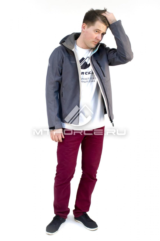 Купить                                  оптом Ветровка - виндстоппер мужская серого цвета 1682Sr