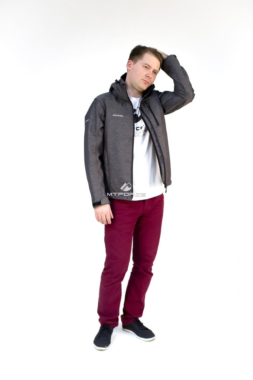 Купить оптом Ветровка - виндстоппер мужская серого цвета 1683Sr