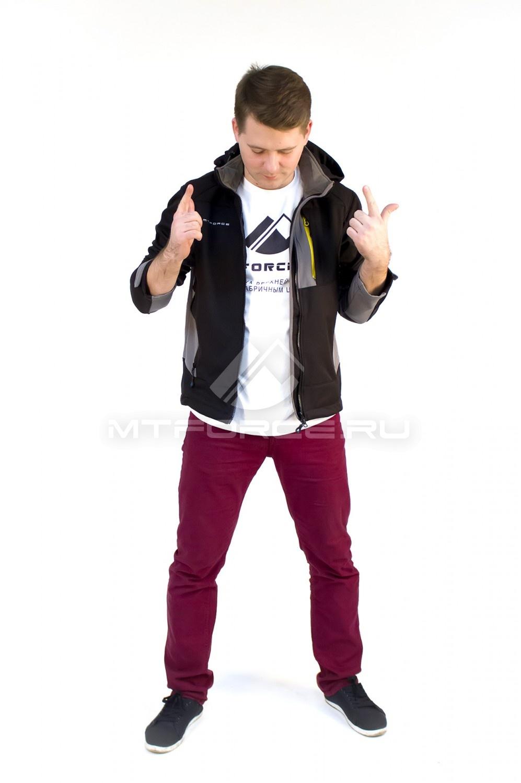 Купить                                  оптом Ветровка - виндстоппер мужская черного цвета 16361Ch в Новосибирске