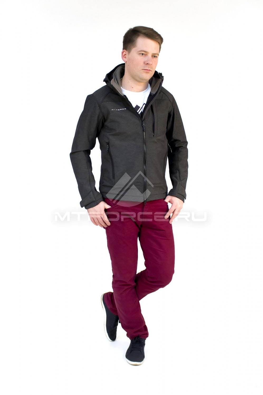 Купить                                  оптом Ветровка - виндстоппер мужская темно-серого цвета 16361TC в Новосибирске