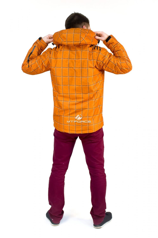 Купить оптом Куртка мужская осень весна оранжевого цвета 1718O в Сочи