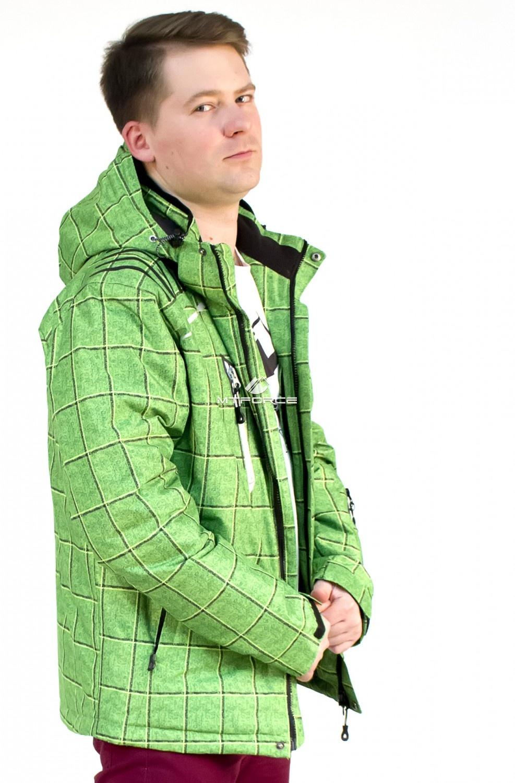 Купить оптом Куртка мужская осень весна зеленого цвета 1718Z в Перми