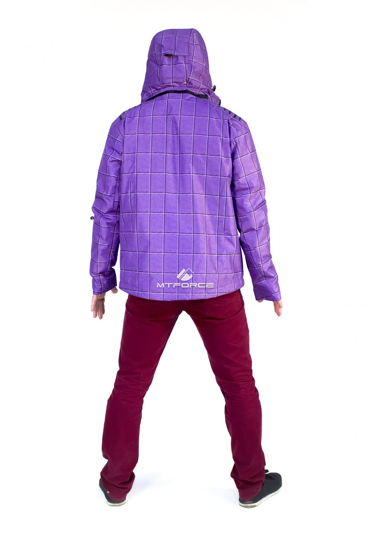 Купить оптом Куртка мужская осень весна фиолетового цвета 1718F в Воронеже