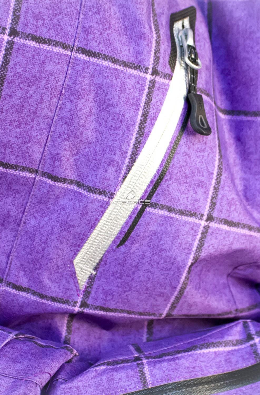 Купить оптом Куртка мужская осень весна фиолетового цвета 1718F в Перми