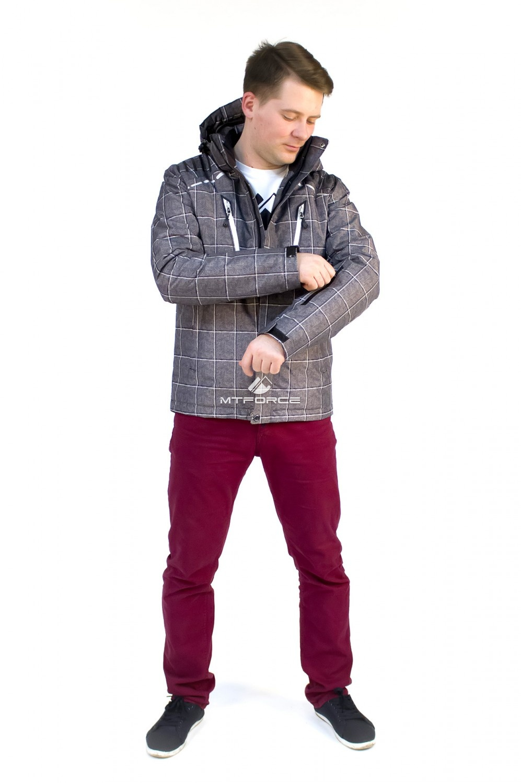 Купить оптом Куртка мужская осень весна серого цвета 1718Sr в  Красноярске