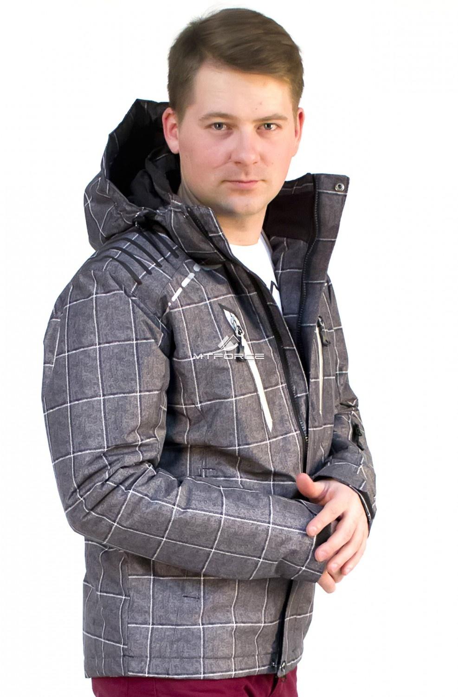 Купить оптом Куртка мужская осень весна серого цвета 1718Sr в Омске