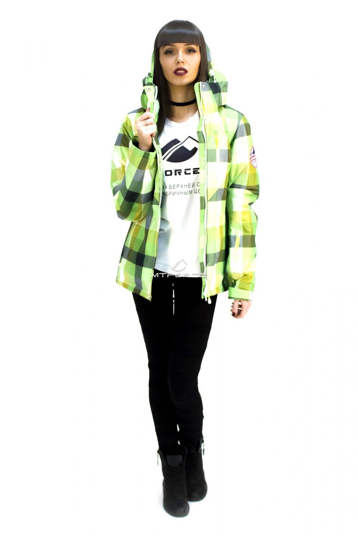 Купить оптом Куртка спортивная женская осень весна салатового цвета 17211Sl в Санкт-Петербурге