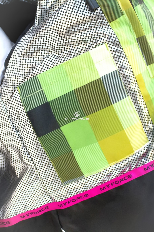 Купить оптом Куртка спортивная женская осень весна салатового цвета 17211Sl в  Красноярске