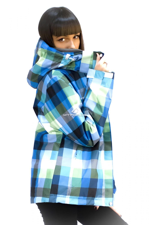 Купить оптом Куртка спортивная женская осень весна голубого цвета 17211Gl в Ростове-на-Дону
