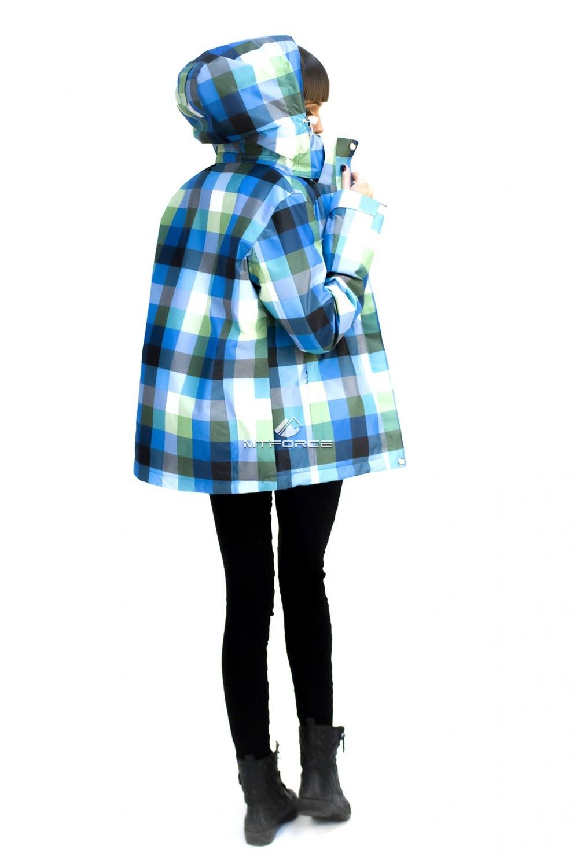 Купить оптом Куртка спортивная женская осень весна голубого цвета 17211Gl в Сочи