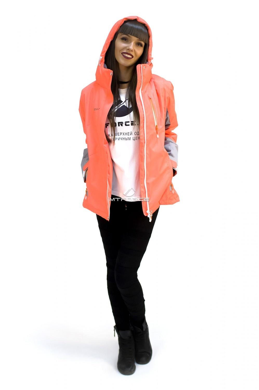 Купить                                  оптом Куртка спортивная женская осень весна персикового цвета 1713P