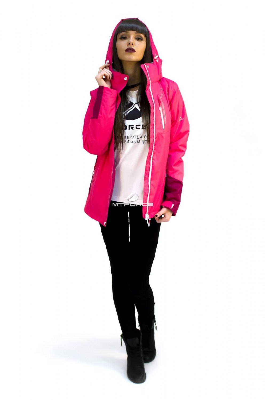 Купить                                  оптом Куртка спортивная женская осень весна розового цвета 1714R