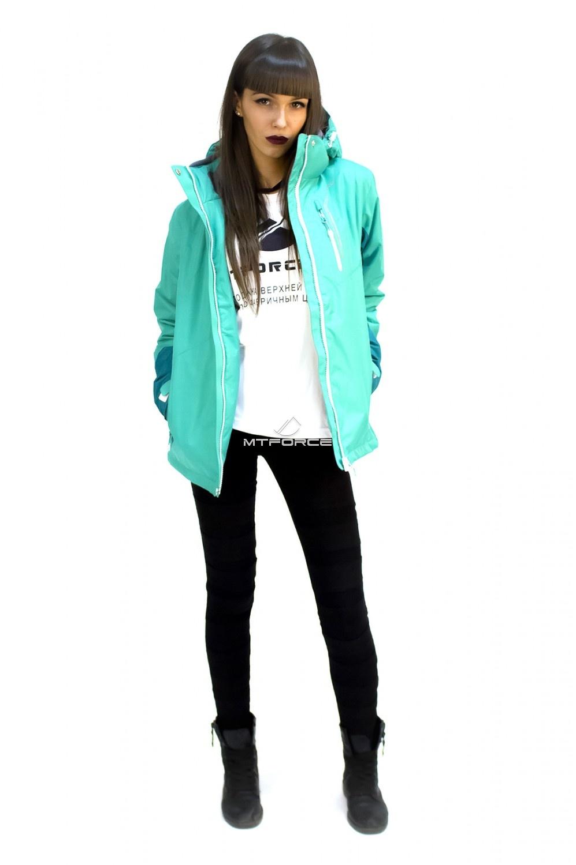 Купить оптом Куртка спортивная женская осень весна зеленого цвета 1714Z в Новосибирске