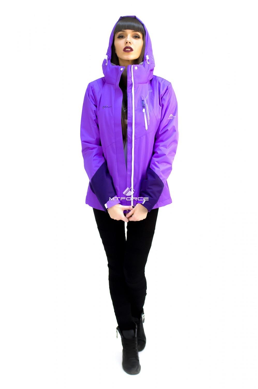 Купить                                  оптом Куртка спортивная женская осень весна фиолетового цвета 1714F