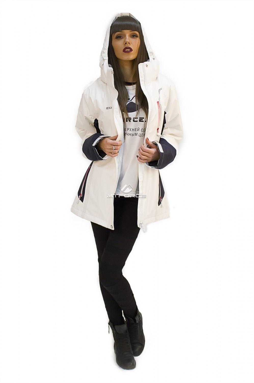 Купить  оптом Куртка спортивная женская осень весна белого цвета 1714Bl
