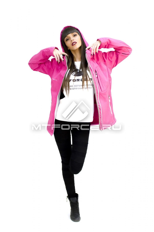 Купить                                  оптом Ветровка - виндстоппер женская розового цвета 1721R