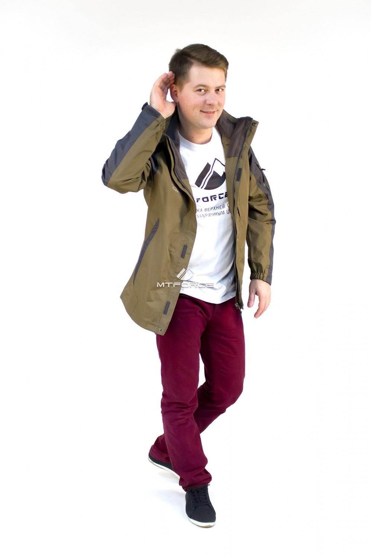 Купить оптом Куртка мужская три в одном цвета хаки 86241Kh в Новосибирске