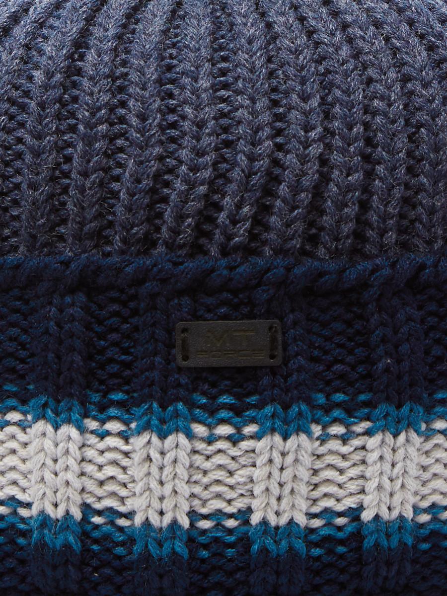 Купить оптом Шапка зимняя агат темно-синего цвета 5901TS в Санкт-Петербурге