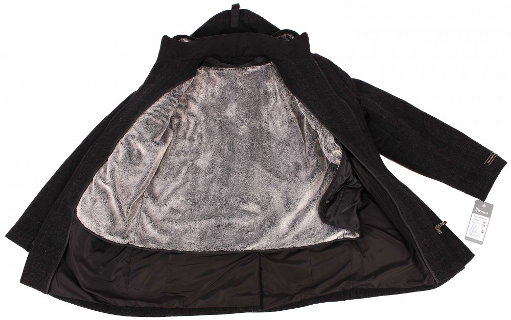 Купить оптом Полупальто мужское темно-серого цвета 23TC в Новосибирске
