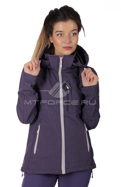 Купить                                  оптом Ветровка - виндстоппер женская фиолетового цвета 1721F в Санкт-Петербурге