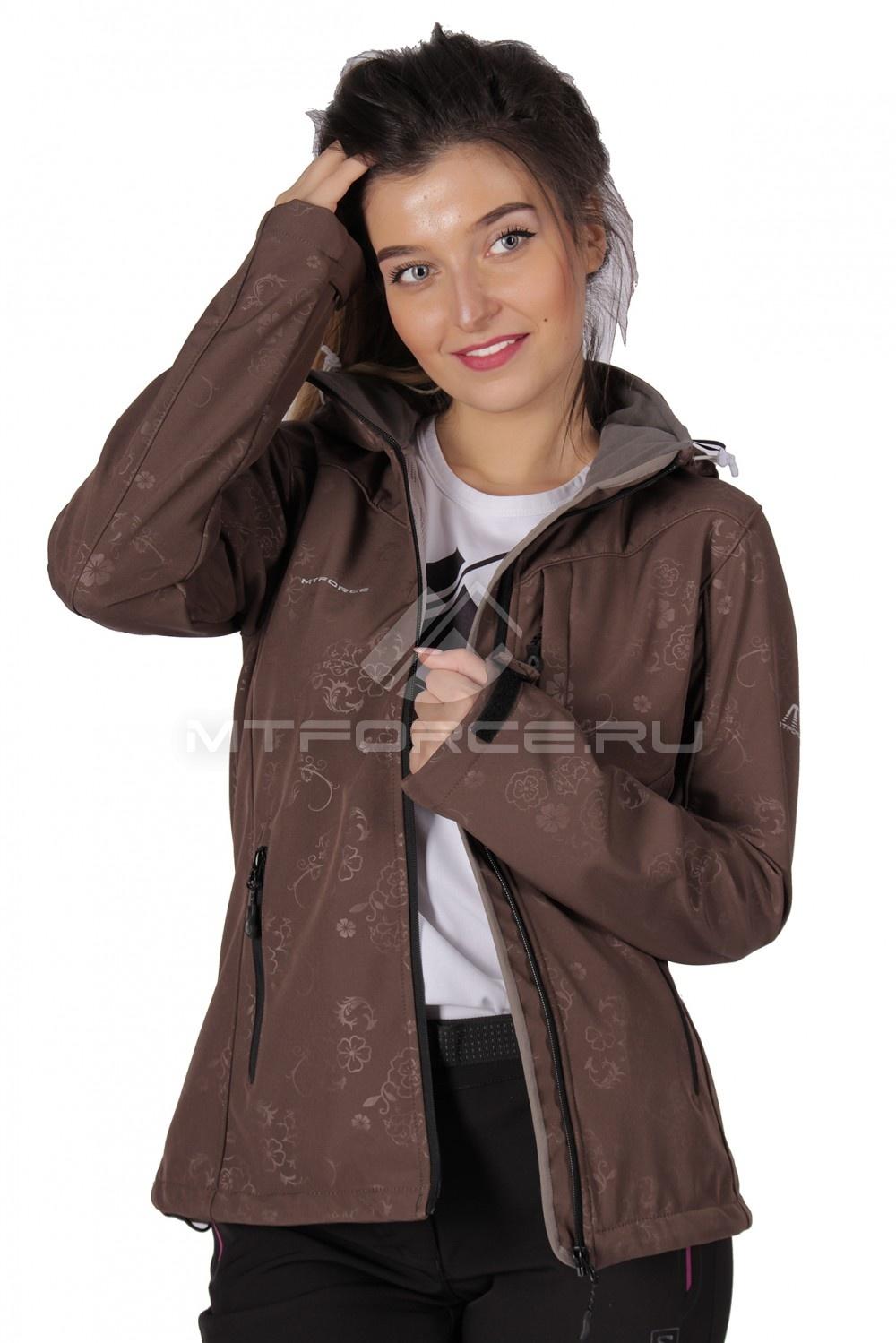 Купить  оптом Ветровка - виндстоппер женская коричневого цвета 1721K