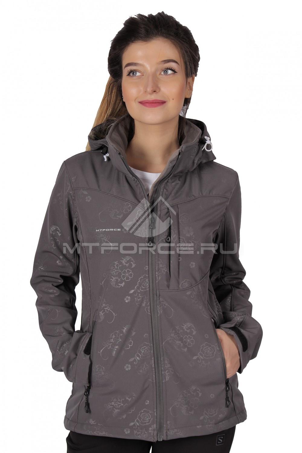Купить                                  оптом Ветровка - виндстоппер женская серого цвета 1721Sr в Новосибирске