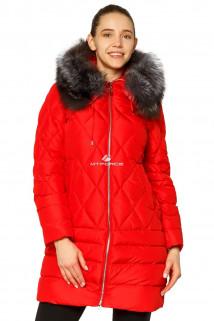 Купить оптом куртку зимнюю женскую стеганную красного цвета 001Kr в интернет магазине MTFORCE.RU