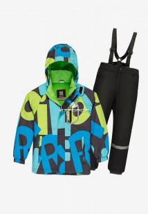 Купить оптом костюм подростковый демисезонный для мальчика синего цвета 0017S в интернет магазине MTFORCE.RU