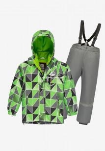Купить оптом костюм подростковый демисезонный для мальчика салатового цвета 0017Sl в интернет магазине MTFORCE.RU