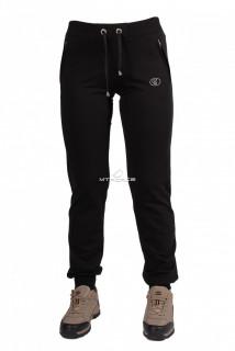 Купить оптом брюки трикотажные женские черного цвета 04Ch в интернет магазине MTFORCE.RU