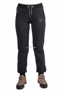 Купить оптом брюки трикотажные женские темно-серого цвета 04TC в интернет магазине MTFORCE.RU