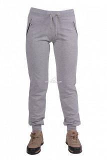 Купить оптом брюки трикотажные женские серого цвета 04Sr в интернет магазине MTFORCE.RU