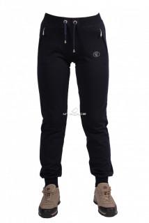 Купить оптом брюки трикотажные женские темно-синего цвета 04TS в интернет магазине MTFORCE.RU