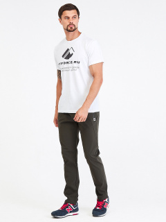 Спортивные мужские брюки осенние весенние черного цвета купить оптом в интернет магазине MTFORCE 00812Kh