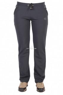 Купить оптом брюки трикотажные женские темно-серого цвета 015TC в интернет магазине MTFORCE.RU
