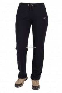 Купить оптом брюки трикотажные женские темно-синего цвета 015TS в интернет магазине MTFORCE.RU