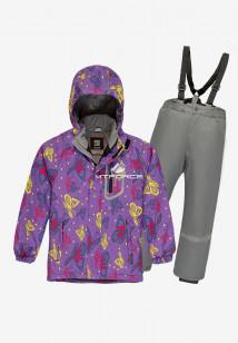 Купить оптом костюм подростковый демисезонный для девочки фиолетового цвета 0016F в интернет магазине MTFORCE.RU