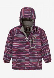 Купить оптом куртку демисезонную подростковую для девочки темно-фиолетового цвета 016TF в интернет магазине MTFORCE.RU