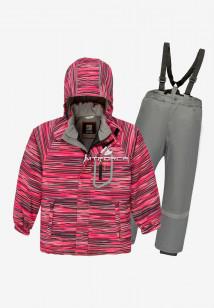 Купить оптом костюм подростковый демисезонный для девочки малинового цвета 0016М в интернет магазине MTFORCE.RU