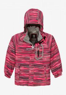 Купить оптом куртку демисезонную подростковую для девочки малинового цвета 016M в интернет магазине MTFORCE.RU