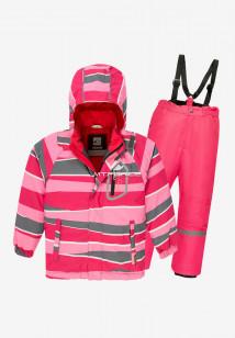 Купить оптом костюм подростковый демисезонный для девочки розового цвета 0016-3R в интернет магазине MTFORCE.RU
