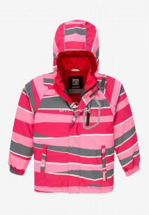 Купить оптом куртку демисезонную подростковую для девочки розового цвета 016-3R в интернет магазине MTFORCE.RU