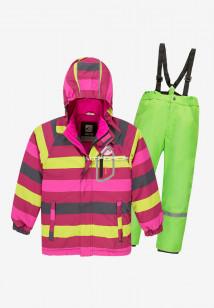 Купить оптом костюм подростковый демисезонный для девочки желтого цвета 0016-1J в интернет магазине MTFORCE.RU
