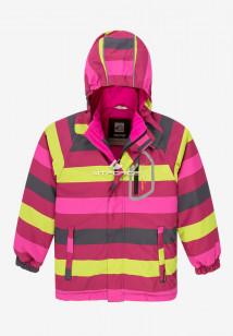 Купить оптом куртку демисезонную подростковую для девочки желтого цвета 016-1J в интернет магазине MTFORCE.RU
