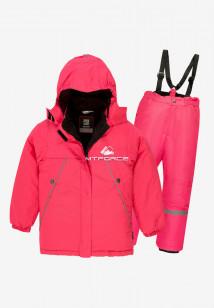 Купить оптом костюм подростковый демисезонный для девочки розового цвета 0016-2R в интернет магазине MTFORCE.RU