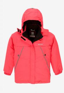 Купить оптом куртку демисезонную подростковую для девочки розового цвета 016-2R в интернет магазине MTFORCE.RU