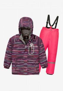 Купить оптом костюм подростковый демисезонный для девочки темно-фиолетового цвета 0016TF в интернет магазине MTFORCE.RU