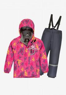 Купить оптом костюм подростковый демисезонный для девочки розового цвета 0016R в интернет магазине MTFORCE.RU