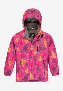 Купить оптом куртку демисезонную подростковую для девочки розового цвета 016R в интернет магазине MTFORCE.RU