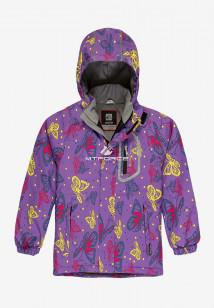 Купить оптом куртку демисезонную подростковую для девочки фиолетового цвета 016F в интернет магазине MTFORCE.RU
